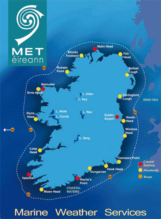 Map Of Ireland Headlands.How To Understand Sea Area Forecasts Shipping News Loneswimmer