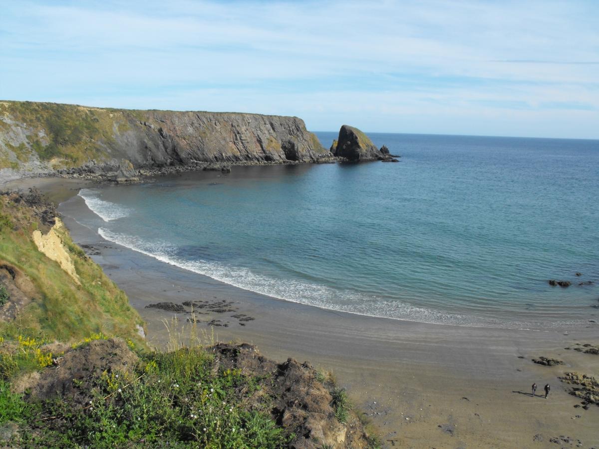 Ballydowane Cove across to St. John's island