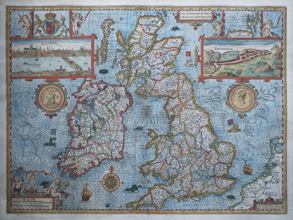 Ancient Map Of Ireland.Map Monsters And Explaining Ireland And Great Britain Loneswimmer