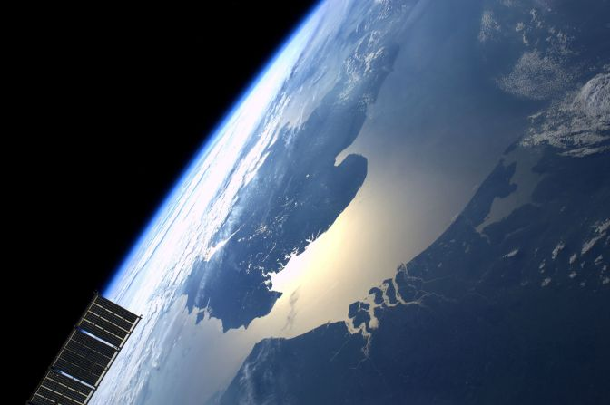 English Channel from the ISS