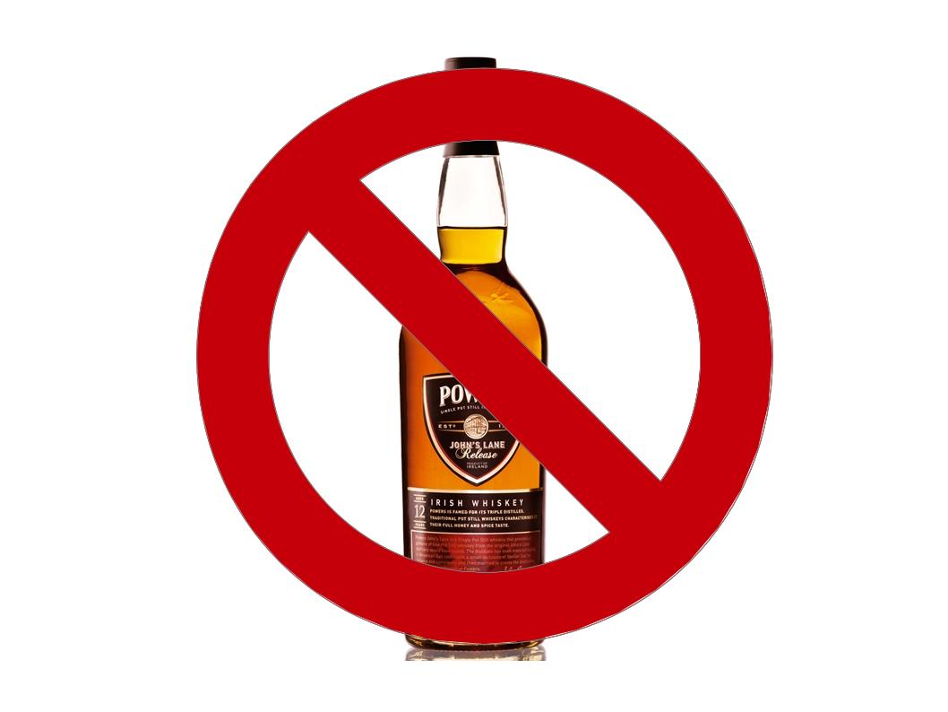 No whiskey