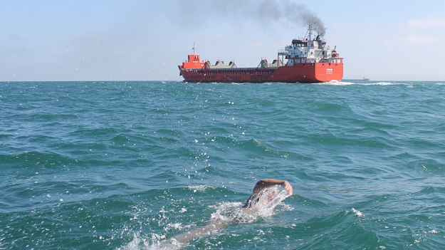 Alan Clack in the English Channel