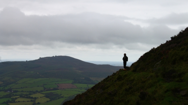 Climbing to Coumshigaun