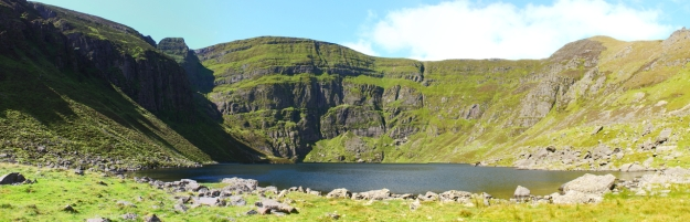 Coumshingaun Lake panorama