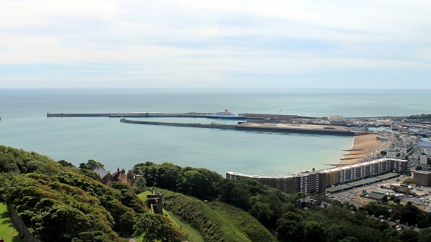 Dover Harbour from Dover Castle, July 2012