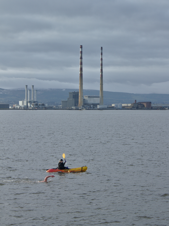 Fergal and kayaker