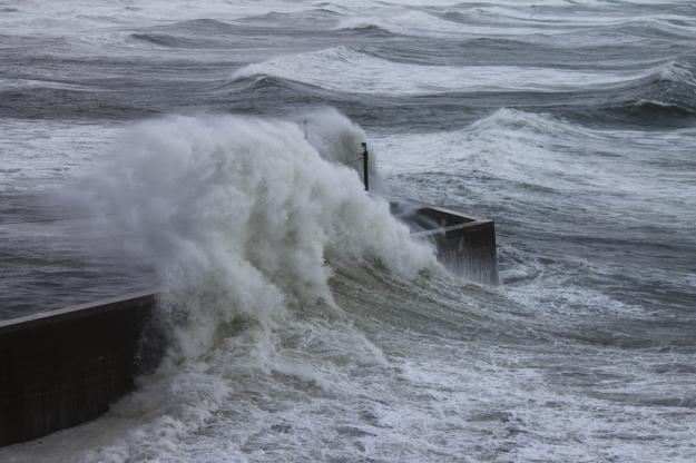 Tramore pier stormwave