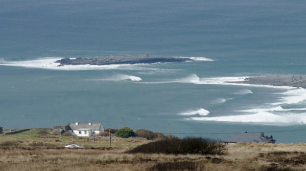 First sight of Crab Island & Doolin Bay with a big swell