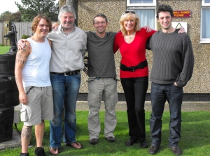 In Varne Ridge.From left: Gabor, David, Donal, Evelyn, Sylvain,