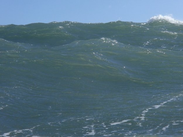 What a 3 metre swell at the the Guillamenes looks like in the water