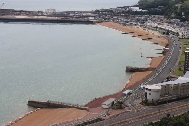 Most of Dover Harbour from Dover Castle