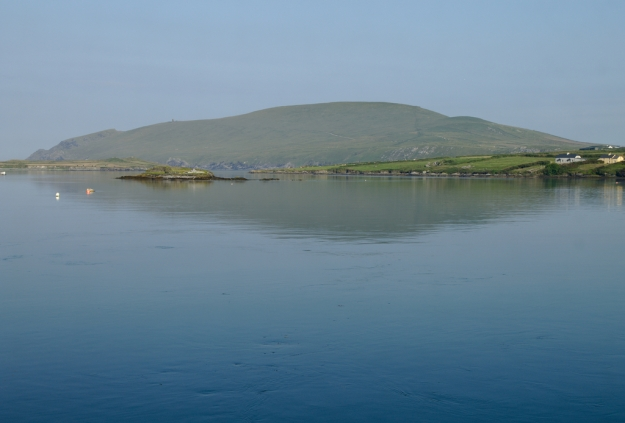 Bray Head reflected in the Channel at Portmagee