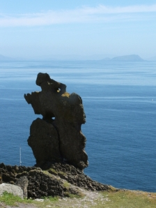 The Wailing Woman stone on Skellig Michael