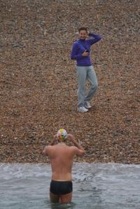 Sylvain & Greta on beach at start IMG_8693.resized.rotated