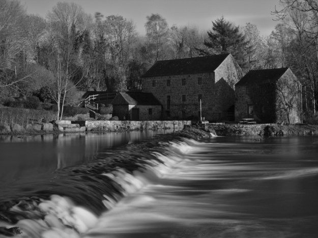 Abhainn na Ri, the King River, rushing past the old mill in Kells in Co. Kilkenny.