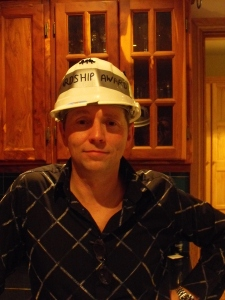 Wearing the Hardship Award Hat in 2011