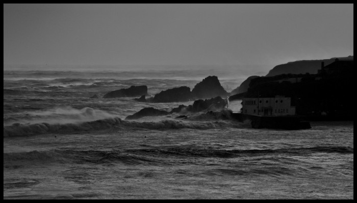 Boatstrand during a Hurricane Force 12 storm. I would have voted to swim.