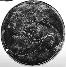 Celtic triskele, symbol of Manannan