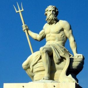 Neptune, the classic sea god image
