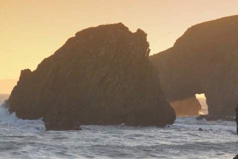 Golden light through a Copper Coast arch