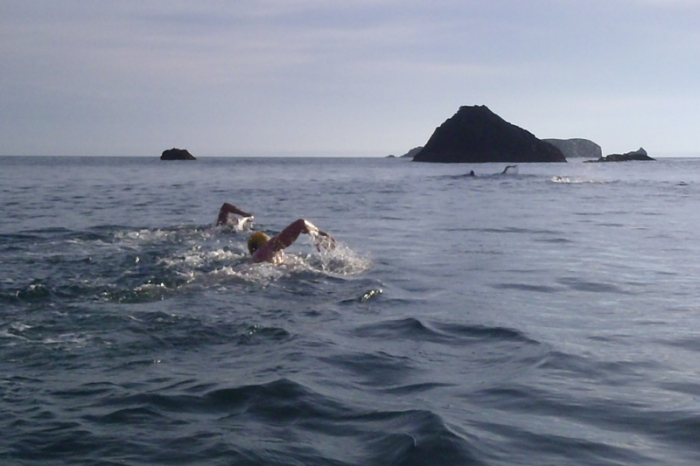 Distance Camp Copper Camp swim: Reefs, rocks, tunnels, islands, arches and caves. Oh my!