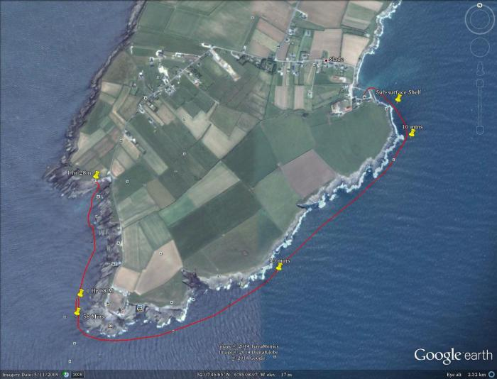 Aroudn Hook Head map