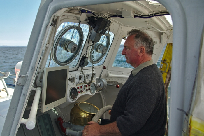 Quinton Nelson North Channel Pilot at the helm