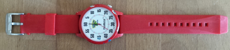 Pace Watch, a swimmer's large faced watch used for keepong track of time and speed intervals