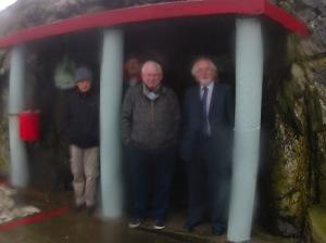 Aidan, Jimmy, Brian, Dennis, & Alan in alcove Christmas swim 20140601_014255.resized