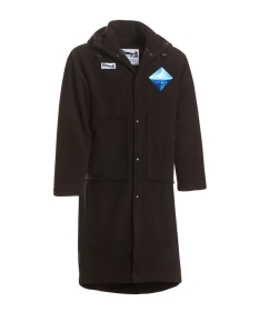 Surf Fur Swim Parka with personalized Ice Mile rebel patch