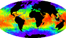 Map of global sea temperatures