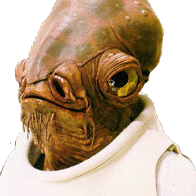 Image of Admiral Ackbar character from Star Wars movie
