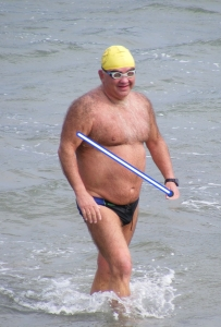 Picture of King of English Channel swimmer Kevin Murphy Mark Robson's website.resized