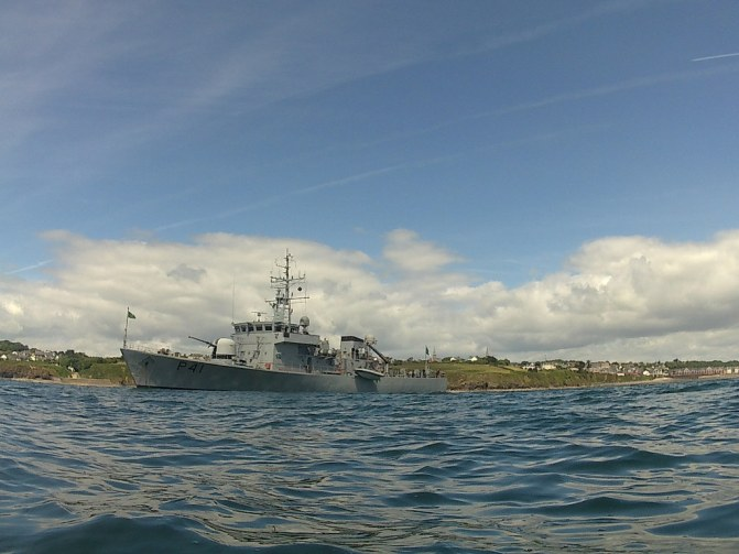 LE Orla at  Sea Horse bicentennial with Doneraile Park in background over her stern