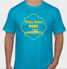 Dirty swim hobo t-shirt design